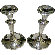 Vintage silverplate candlesticks in Queen Anne Style, Barbour Company