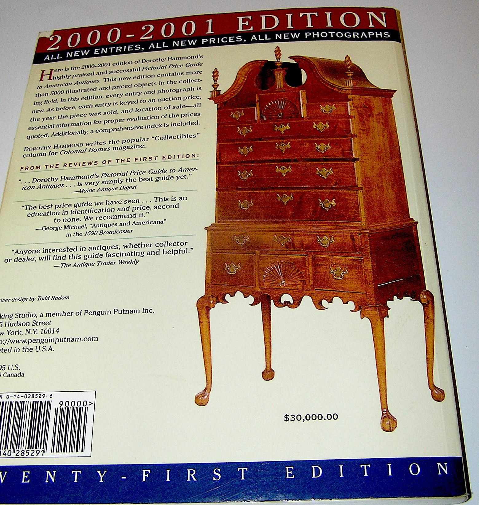 Vintage book, Pictorial Price Guide To American Antiques, 2000 ...