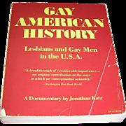vintage book, Gay American History, Jonathan Katz, 1977