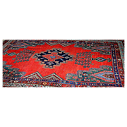 Antique Oriental rug, a Hamadan in cotton and wool