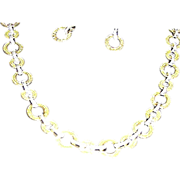 Necklace and matching ear rings, Retro, Exc.