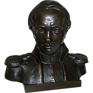 Vintage Bronze statue of a military officer, early 20th century