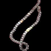 "Vintage Rhinestone choker necklace, 14"" long"