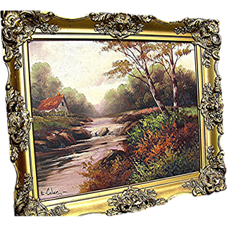 Antique Oil Painting signed E. Coler from the late 19th century