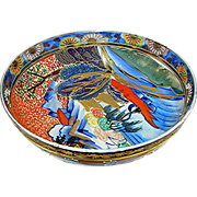 Oriental:porcelain bowl with gold gilding, 20th c