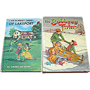Bobbsey Twins Merry Days Inside and Out and Twins of Lakeport