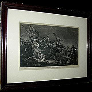 Vintage print depicting Bunker Hill