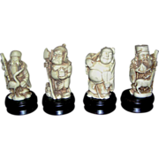 Oriental figurines, Budhist or Shinto, miniature statues