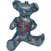 Original By Robert Rhinestone Teddy Bear Pin