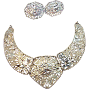 Barrera For Avon Spanish Style Collection Statement Necklace & Earring Set 1989