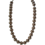 Hobe Silvertone Metal Beaded Necklace Strung On Chain  Circa 1950s