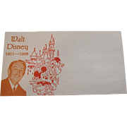 Walt Disney 1901 -1966 Commemorative Envelope