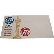 Walt Disney Pathfinder of New Fields of Pleasure Commemorative Envelope 1966