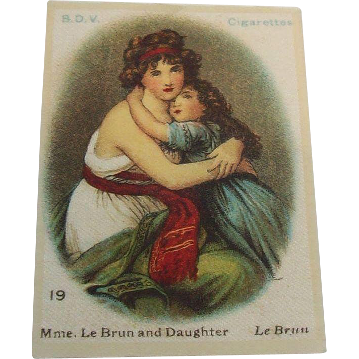 B.D.V. Cigarettes #19 Mme.  Le Brun & Daughter  Le Brun  Cigarette Silk