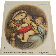 B.D.V. Cigarettes  #2 The Madonna of the Chair,  Raphael  ~Sale Buy 3 for $10~