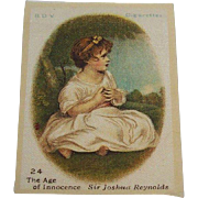 B.D.V. Cigarettes #24 The Age of Innocence, Sir Joshua Reynolds, Cigarette Silk