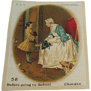 B.D.V. Cigarettes #58 Before Going to School, Chardin, Cigarette Silk