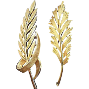 Trifari Textured & Brushed Goldtone Metal Leaf Scatter Pins