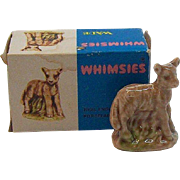 Wade Whimsies Lamb Porcelain Miniature  MIB  Circa 1970's