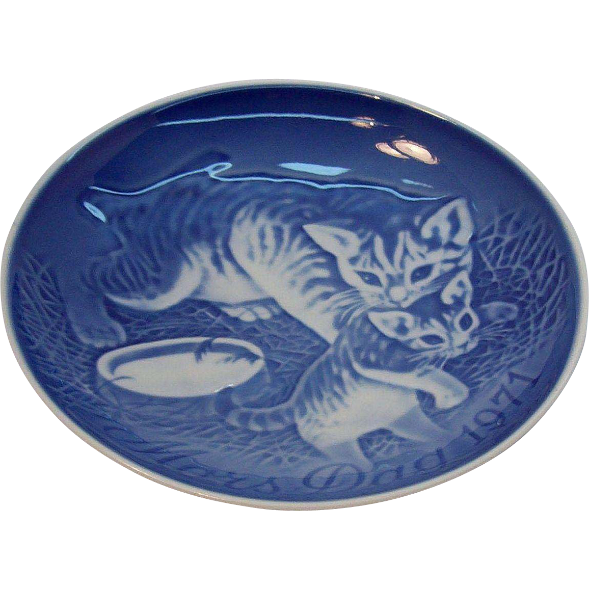 Mother Cat & Kitten 1971 Bing & Grondahl Mother's Day Plate