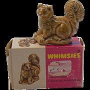 Wade Whimsies Porcelain Miniatures Pine Martin Figurine MIB #23 Circa 1970's