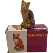 Wade Whimsies Porcelain Miniature Cat Figurine #38  MIB  Circa 1970's