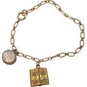 The Pean, Phillips Exeter Academy ,1927 Graduation Gold-Filled Charm Bracelet