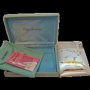Elgin American Jumping Deer Design Cigarette Case Lighter  in Original Box