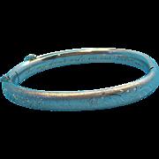 Charming Sterling Silver Etched & Engraved Bangle Bracelet