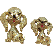 Vintage Gerrys Pair of Adorable Dogs with Long Floppy Ears  Scatter Pins