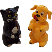 Kennel Ration Cat & Dog Plastic Salt & Pepper Shakers