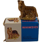 Collie Dog Figurine Wade Whimsies Mint in Original Box