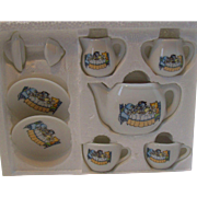 Kitty Cucumber 1987 9 Piece Tea Party Tea Set Mint in Box