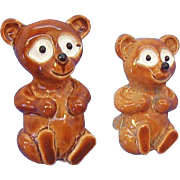Vintage Gerrys Teddy Bears Pair of Brown Enameled Metal Scatter Pins