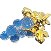 Vintage Swarovski Crystal Memories Grape Cluster Brooch Mint in Original Box