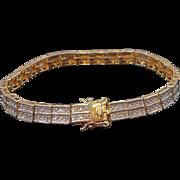 Vintage Goldplated Sterling Silver  CZ Tennis Style Bracelet