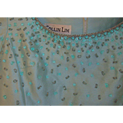 Vintage Colin Lim Dress with Beaded Embellishments Size 10