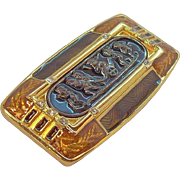 Vintage Edgar Berebi Habsburg Palace Goldtone Metal Enameled Brooch  Limited Edition
