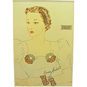 Vintage Miriam Haskell Advertising Print 1 Circa 1940s