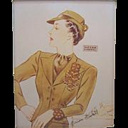 Vintage Miriam Haskell Advertising Print  3 Circa 1940s