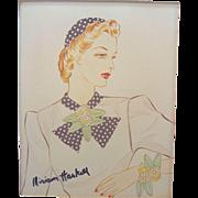 Vintage Miriam Haskell Advertising Print 4