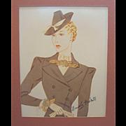 Vintage Miriam Haskell Advertising Print  7 Circa 1940s