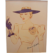 Vintage Miriam Haskell Advertising Print 8 Circa 1940s