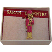 Vintage Sarah Coventry Christmas Toy Soldier Tac Pin  MIB Circa 1980s