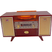 Vintage Janica Lucite Mini Stereo Jewel Box Radio 1960s Made in Japan