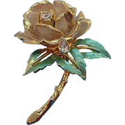 Vintage Rose Brooch The Rose of England 1997 Princess Diana Commemorative