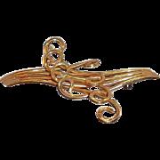 Winard 12K Gold Filled Abstract Dimensional Design Brooch