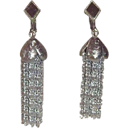 Vintage Sarah Coventry Cascade Silvertone Metal Dangle Earrings