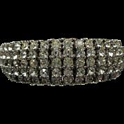 vintage wide Rhinestone CINER flex Bracelet
