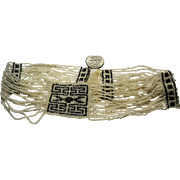 Amazing delicate 1920s Deco Flapper Choker Ribbon Dog Collar necklace